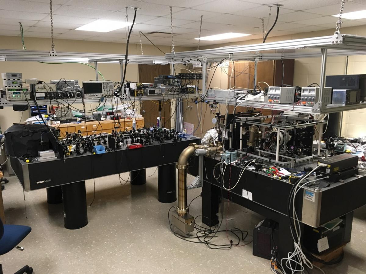Laser-cooled atoms lab at Creighton University